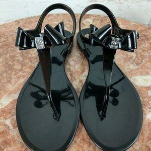 BCBG generation black jelly sandals
